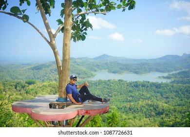 Indonesia Yogyakarta May 08 2018 - Kalibiru tourism village in manoreh hill, yogyakarta