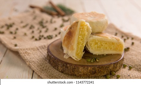 indonesian chinese traditional food delicacy bakpia pathok or sweet rolls