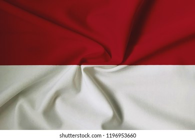 Indonesian flag, with a fabric texture