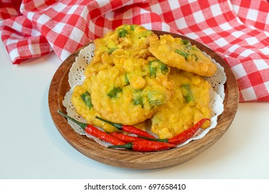Indonesian food Corn Fritters / Bakwan Jagung