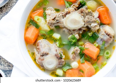 Indonesian Food Sop Buntut / Oxtail Clear Soup