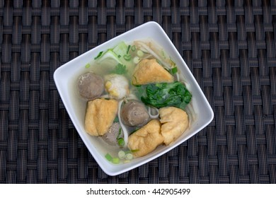 Indonesian Meatball Bakso with tofu