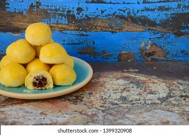 Indonesian pineapple tart cookies or Nastar served to celebrate Idul Fitri or Lebaran