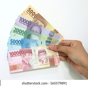 Indonesian rupiah money in hand