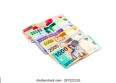 Indonesian Rupiah on a white background