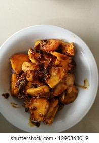 indonesian traditional food fresh fruit (rujak buah buahan)