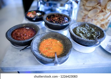 Indonesian Traditional Food: Several Type of Sambals for Dip