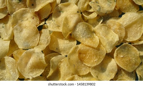 Indonesian traditional Opak (chips) food which is being dried in the sun with the top view concept. Street food