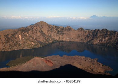 Indonesian volcano/trekking on mountain/hiking