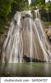 Indonesian Waterfall. Batanta Island waterfall