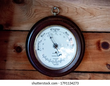Indoor barometer from a Maine cottage