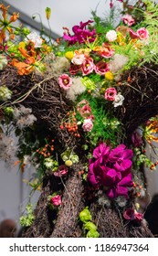 Indoor floral arrangement