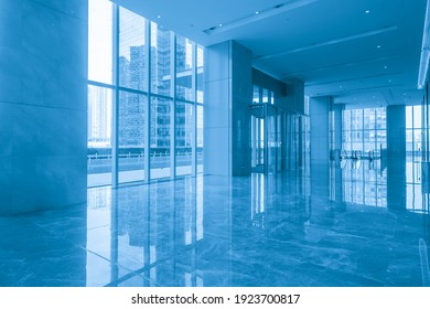 Indoor hall of financial center office building