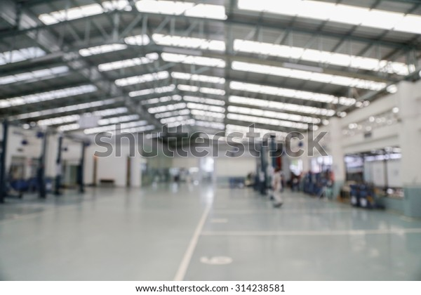 indoor manufacturing factory blurred background