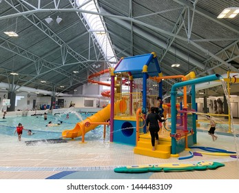 Indoor pool at the Newton Community Centre in Surrey BC taken on July 6 2019