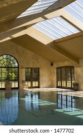 Indoor Pool with reflections (portrait)