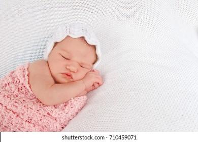 indoor portrait of cute newborn baby