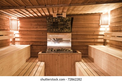 Indoor of a sauna