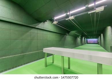 Indoor shooting range. New shooting gallery.