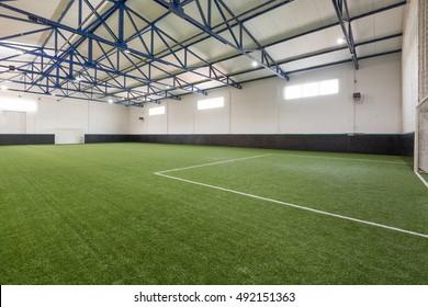Indoor soccer or football field