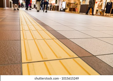 Indoor tactile paving foot path for the blind and vision impaired handicap in Japan