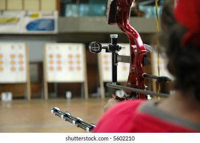 Indoor Target Archery - sight equipment