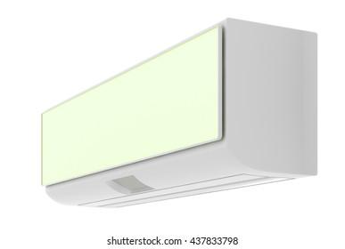 Indoor unit split air conditioner.  3d render