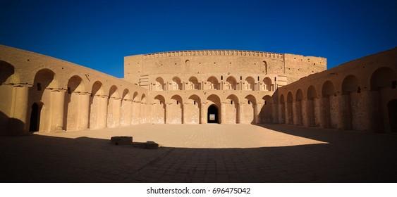 Indoor view of Al-Ukhaidir Fortress near Karbala, Iraq