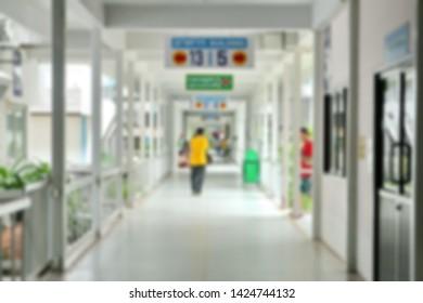 Indoor walkway in the hospital