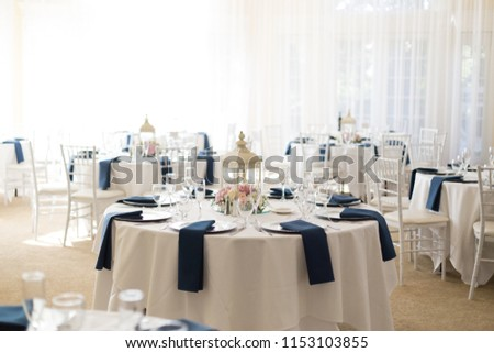 Indoor Wedding Reception Setup Tables Stock Photo Edit Now