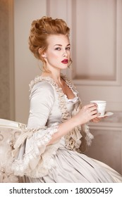 Indoors shot in the Marie Antoinette style