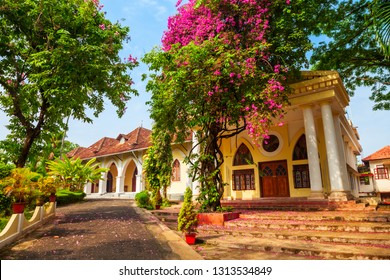 The Indo-Portuguese Museum or Bishop House is a museum in Fort Kochi in Cochin city, India