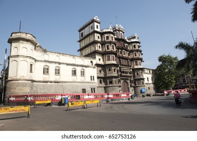 Indore / India 9 May 2017 Rajwada is a historical palace in Indore city  It was built by the Holkars of the Maratha Empire in  Madhya Pradesh India