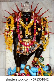 Indore, India - February 1, 2017: Popular Goddess Kali Temple,  Khajrana, Indore. Goddess Kali is known as the Redeemer of the universe.