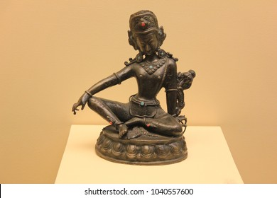 Indra Hindu God Statue. Indra is a Vedic Deity in Hinduism, a Guardian Deity in Buddhism, and the King of the Highest Heaven Called Saudharmakalpa in Jainism. Religious Hinduism Symbols Concept. - Shutterstock ID 1040557600