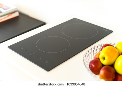 Induction stove in the kitchen