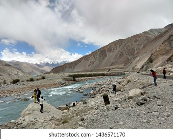 The Indus River (locally called Sindhu) is one of the longest rivers in Asia