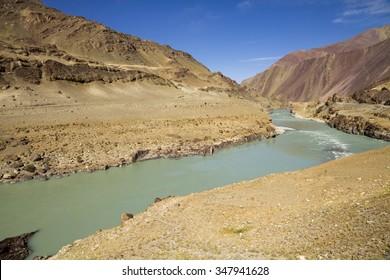 Indus River valley, Ladakh, Jammu & Kashmir, India