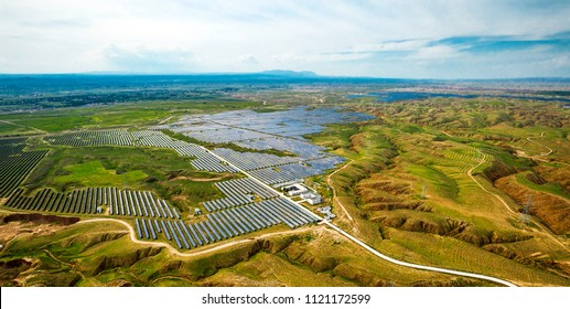 Industrial aerial new energy solar photovoltaic production base