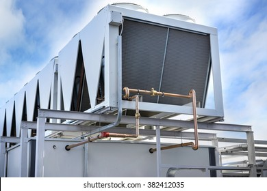 Industrial Air Condition System against the sky