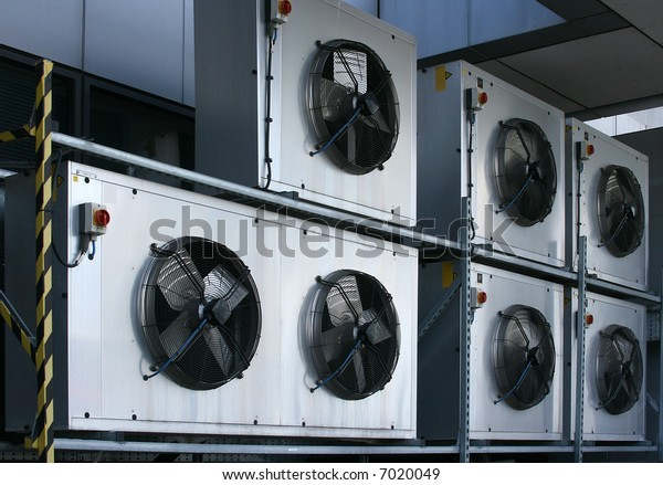 Industrial air conditioning fan units