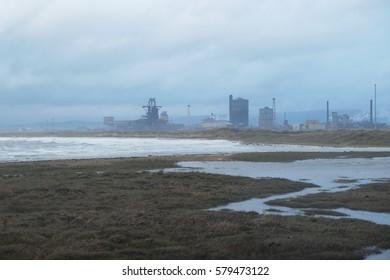 Industrial area, After rain