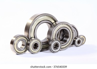 Industrial bearings on a white background