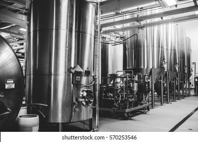Industrial Beer Brewing