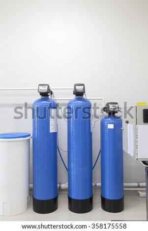Industrial Bottles Regulator Pressure Gauge Stock Photo