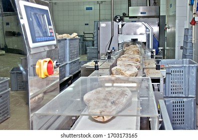 Industrial bread wrapping machine. Automatique food wrapping machine