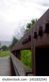 Industrial bridge on walking trail