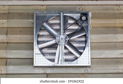 Industrial Building Exhaust Fan and Windows