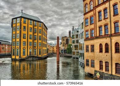 Industrial buildings in Norrkoping (Sweden), Museum of Work (Arbetets Museum), HDR-technique