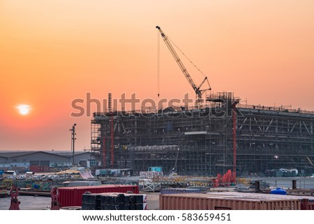 Industrial Buildings Petrochemical Plant Construction Oil Gas Stock